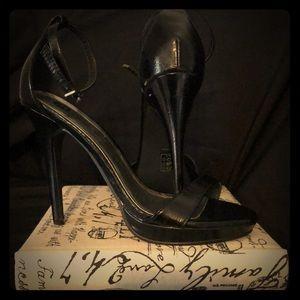 Classic black t-strap sandal